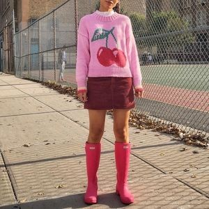 🆕 HUNTER candy pink barbie tall rain boots- 10